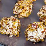 recette Raisins enrobés de ricotta, pistaches et amandes