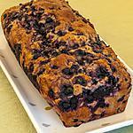 recette Bread cake banane et myrtilles