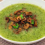 recette Soupe facile aux courgettes et aux champignons