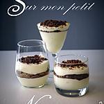 recette Mousse Petits-Suisses, Chocolat Blanc, Eclats de Chocolat Noir et Speculoos