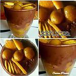 recette Mirabelles à l'orange, accompagné de ganache choco praliné