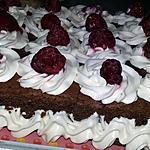 recette Moelleux au chocolat au mascarpone et aux framboises