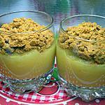 recette verrines de pommes aux speculoos