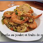 recette PAELLA AU POULET et FRUITS DE MER au COOKEO