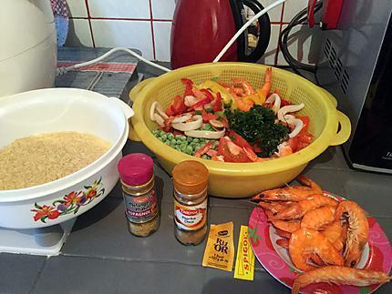 recette de paella au poulet et fruits de mer au cookeo. Black Bedroom Furniture Sets. Home Design Ideas