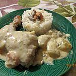 recette Cuisses de poulet en blanquette