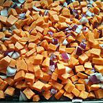 recette Patates douces rôties aux oignons rouges