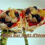 recette BLINIS AUX FRUITS D'HIVER