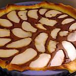 recette Tarte au chocolat et à la poire