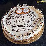 recette gâteau crème mousseline/pêches