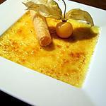 recette Crème brûlée au jasmin et cigarette croustillante...