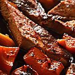 recette ROUELLE DE PORC AU POTIRON ROTI ET POMME FRUIT