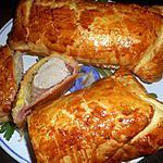 recette Filet mignon de porc,jambon en croute