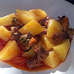 recette Ragoût de merguez soubressade et moule