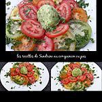 recette Sorbet concombre et sa salade de tomates colorées au companion