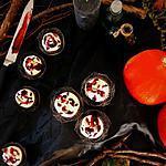 recette Cupcakes ensanglantés chocolat blanc framboise cœur purulent de pomme