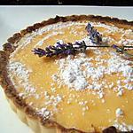 recette Tarte au citron et fleurs de lavande