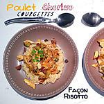 recette THERMOMIX: Poulet Cougettes Chorizo façon Risotto