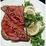 recette Canapé tomate crevettes grises