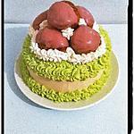 recette angel cake coco  choux à la fraise-citron vert