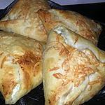 recette Triangles feuilletés courgettes ricotta jambon chèvre