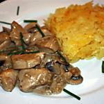 recette Emincé de poulet à la zurichoise