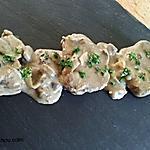 recette Filet mignon crème et champignons