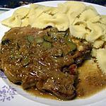 recette cotes de porc  en saupiquet