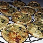 recette Quichettes apéritives courgettes chèvre jambon