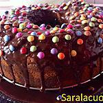 recette Gâteau marbré au yaourt recouvert de ganache (anniversaire enfant)