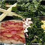 recette Gratin de blancs de bettes, champignons et lard fumé