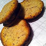 recette Sablés croquants noisettes et chocolat (sans oeufs)