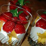 recette Verrines fraises et ananas