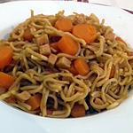 recette NOUILLES CHINOISE aux CAROTTES et au COOKEO