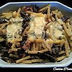 recette Gratin de côtes de bettes poêlées, lardons (champignons)
