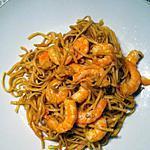 recette Pad thaï crevettes