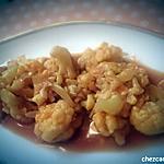 recette Chou-fleur mijoté à la sauce tomate