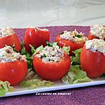 recette Tomates garnies thon et oeufs