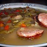 recette Potage paysan à la saucisse de Morteau...