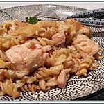 recette Gratin de tortis et saumon mariné à la sauce soja