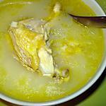 Soupe de riz au poulet (canja de galinha) recette portugaise
