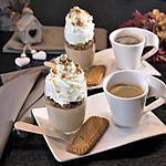 recette Mousse Café Liégeois, Croustillant Spéculoos-Chocolat et Noisettes Caramélisées