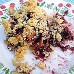 recette Crumble de figues noires et noix