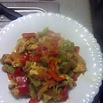 recette poulet au poivron rouge et vert.façon Algérienne.