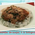 recette TAGLIATELLES DE KONJAC A LA BOLOGNAISE