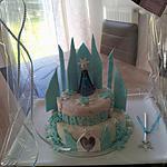 recette Gâteau d'anniversaire Le château de La Reine des Neiges