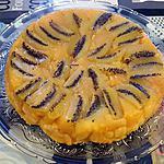 recette Tatin de pommes, kiwis, écorces orange et mandarine confite façon Lauranou