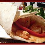 recette Fajitas aux crevettes et poivrons
