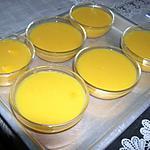 recette Crèmes prises à la mangue