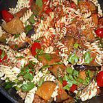 recette Fusilli viande hachée et aubergine